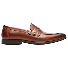 Buy Rockport Style Connected Penny Loafers, Dark Brown Online at johnlewis.com