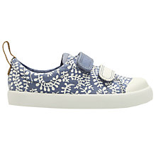 Buy Clarks Children's Halcy Hati Riptape Canvas Shoes, Denim Online at johnlewis.com