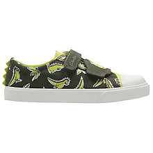 Buy Clarks Children's Tricer Roar Canvas Rip-Tape Shoes, Khaki Online at johnlewis.com