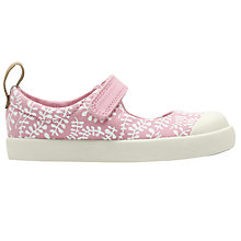 Buy Clarks Children's Halcy Wink First Shoes, Pink Online at johnlewis.com