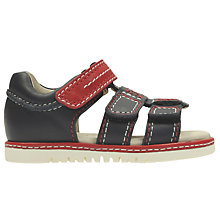 Buy Clarks Children's Tika Spin First Sandals, Blue Online at johnlewis.com