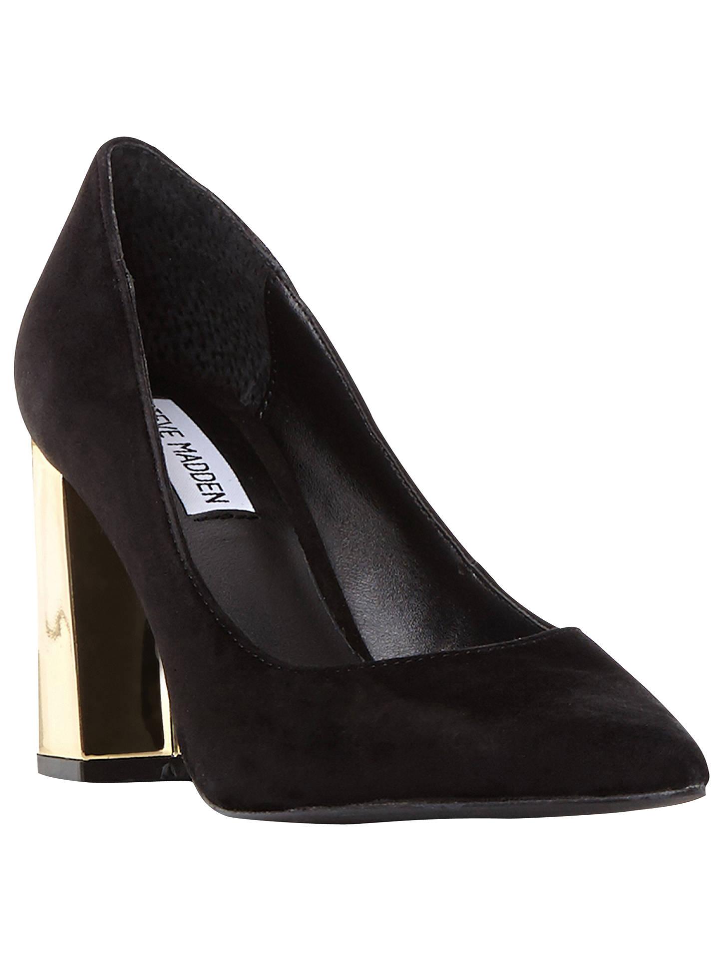 e34b310eb89 Steve Madden Pointur Block Heeled Court Shoes, Black at John Lewis ...