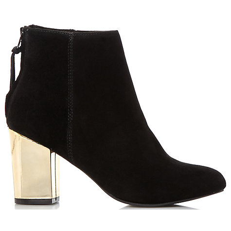 Buy Steve Madden Cynthia-G Block Heeled Ankle Boots, Black Online at johnlewis.com