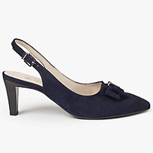 Buy Peter Kaiser Mareike Slingback Court Shoes, Navy Online at johnlewis.com