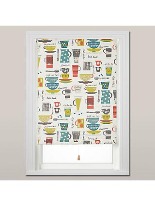 John Lewis & Partners Coffee Cups Daylight Roller Blind, Spring Mechanism