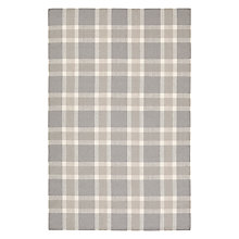 Buy John Lewis Gibside Plaid Rug, Grey Online at johnlewis.com