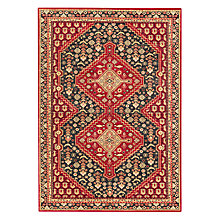 Buy John Lewis Shiraz Rug, Red/Black Online at johnlewis.com
