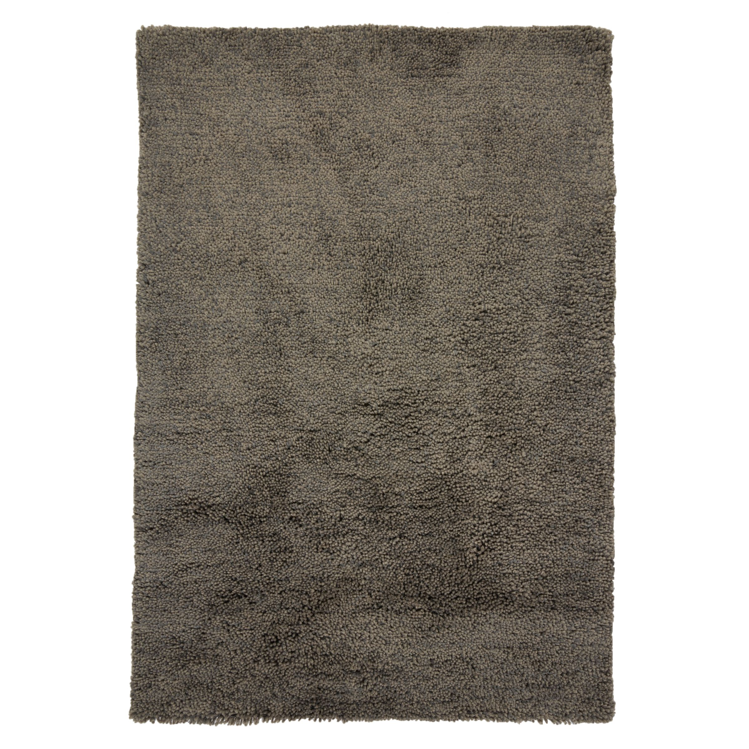John Lewis & Partners Bliss Shaggy Rug, L230 x W160cm, Steel