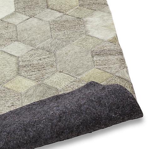 ... Buy John Lewis Cowhide Hexagon Rug, Grey Online At Johnlewis.com ...