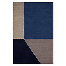 Buy House by John Lewis Geo Rug, Blue Online at johnlewis.com