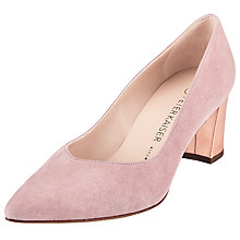 Buy Peter Kaiser Naja Block Heeled Court Shoes, Pink Online at johnlewis.com