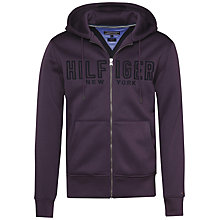 Buy Tommy Hilfiger Reese Full Zip Hoodie, Purple Online at johnlewis.com