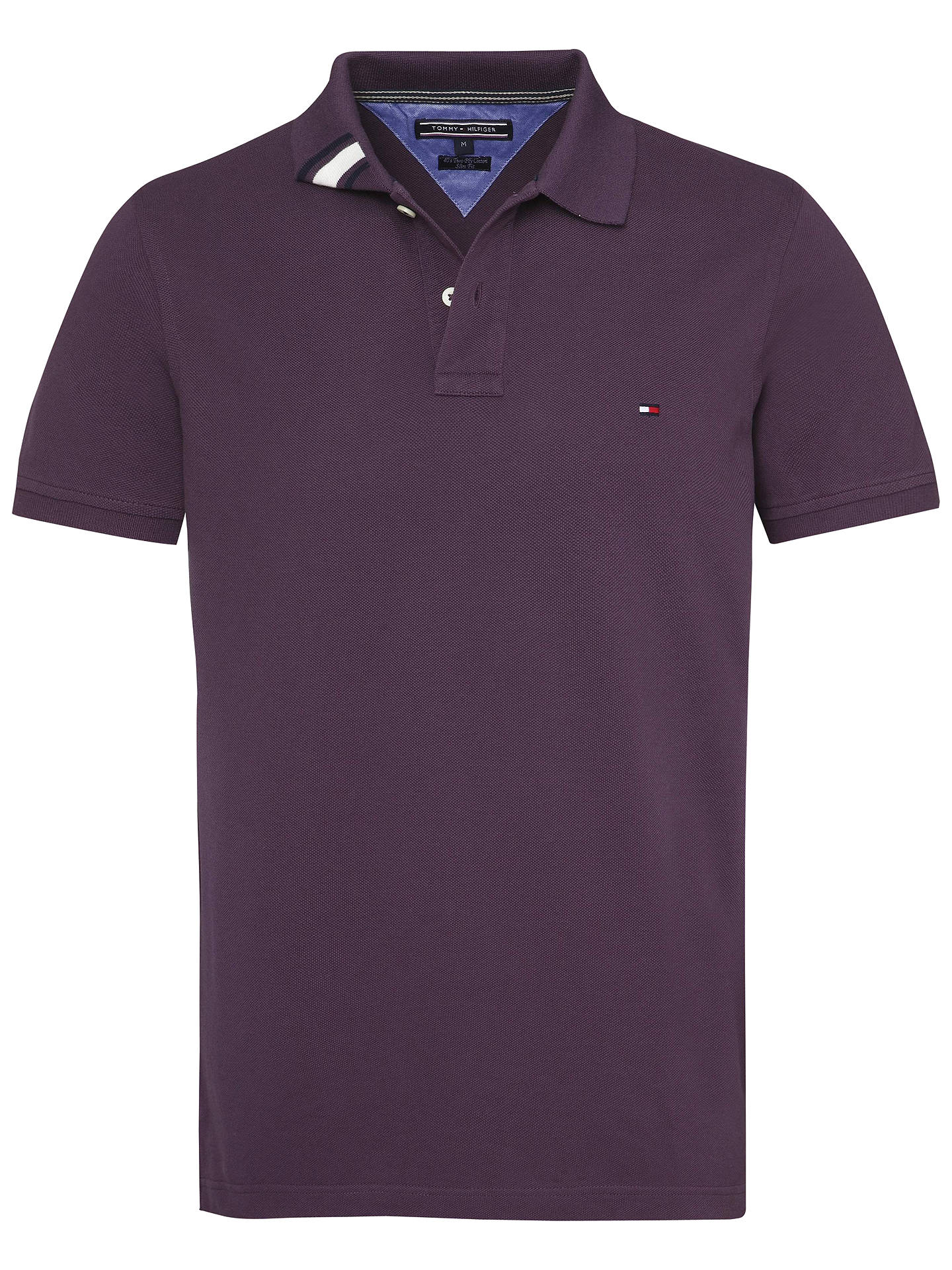 a0db562cf Buy Tommy Hilfiger Slim Fit Polo Shirt, Navy, S Online at johnlewis.com ...