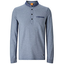 Buy BOSS Orange Patcherman Long Sleeve Polo Shirt Online at johnlewis.com