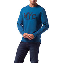 Buy Tommy Hilfiger Andrew Crew Neck NYC Sweatshirt, Blue Online at johnlewis.com