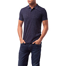 Buy Tommy Hilfiger Alan Paisley Print Slim Polo Shirt, Navy Online at johnlewis.com
