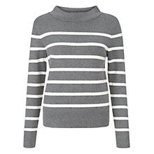 Buy Hobbs Gloria Jumper, Dark Grey/ Ivory Online at johnlewis.com