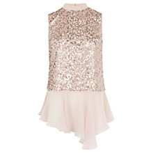 Buy Coast Eironne Sequin Top, Blush Online at johnlewis.com