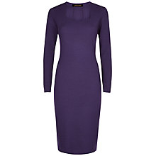 Buy Jaeger Cut Out Wool Jumper Dress, Purple Online at johnlewis.com