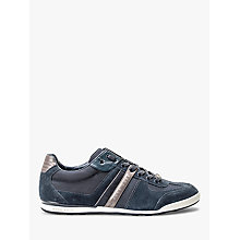 Buy HUGO BOSS Akeen Suede Trainers, Blue Online at johnlewis.com