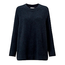 Buy Samsoe & Samsoe Nor Jumper, Dark Blue Melange Online at johnlewis.com