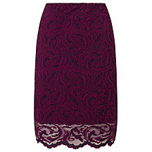 Buy Samsoe & Samsoe Alia Lace Pencil Skirt, Dark Purple Online at johnlewis.com