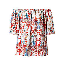 Buy Somerset by Alice Temperley Peony Print Off The Shoulder Top, Multi Online at johnlewis.com