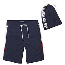 Buy Tommy Hilfiger Boys' Flag Swim Shorts, Navy Online at johnlewis.com