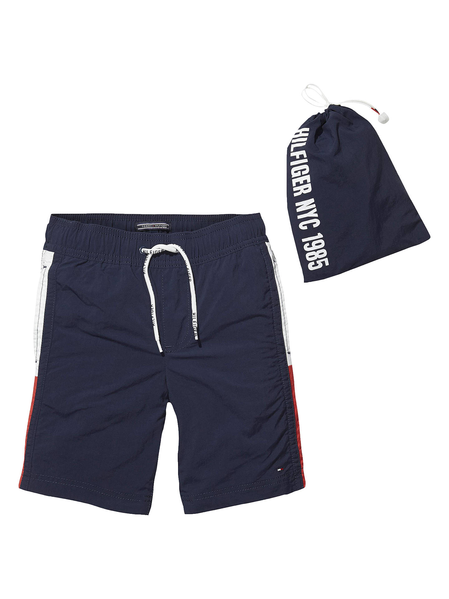 54865351a Buy Tommy Hilfiger Boys' Flag Swim Shorts, Navy, 5 years Online at  johnlewis ...