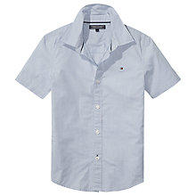Buy Tommy Hilfiger Boys' Mini Stripe Shirt, Blue Online at johnlewis.com