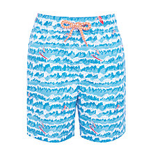 Buy John Lewis Boys' Surfer Print Board Shorts, Blue Online at johnlewis.com