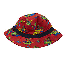 Buy John Lewis Children's Cuba Car Print Bucket Hat, Dark Orange Online at johnlewis.com