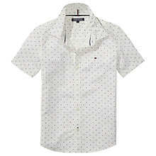 Buy Tommy Hilfiger Boys' Mini Print Shirt, White Online at johnlewis.com