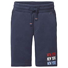 Buy Tommy Hilfiger Boys' Double Face Sweat Shorts, Navy Online at johnlewis.com