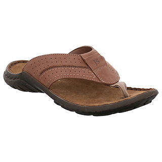 2016 Hot Sale Josef Seibel Logan 01 Leather Flip Flops Men Nut FMMAA69