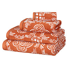 Buy John Lewis Fusion Evora Tile Towels, Paprika Online at johnlewis.com