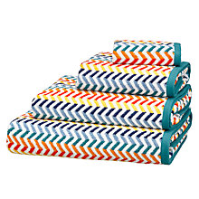 Buy John Lewis Chevron Towels, Multi Online at johnlewis.com