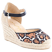 Buy Unisa Caceres Two Part Wedge Heeled Court Shoes, Leopard Online at johnlewis.com