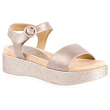 Buy Unisa Balcani Flatform Sandals, Metallic Online at johnlewis.com