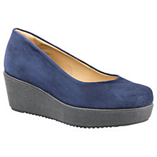 Buy Unisa Forano Flatform Court Shoes, Navy Online at johnlewis.com