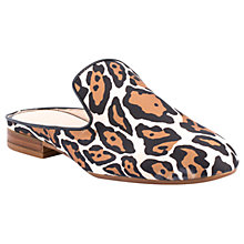 Buy Unisa Dewey Open Back Mule Loafers, Natural Leopard Online at johnlewis.com