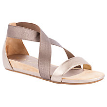 Buy Unisa Alena Cross Strap Sandals, Silver Online at johnlewis.com