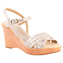 Buy Unisa Retor Wedge Heeled Sandals, Metallic Grey Online at johnlewis.com