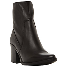 Buy Steve Madden Peaches Block Heeled Ankle Boots, Black Online at johnlewis.com