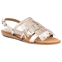 Buy Unisa Adonis Fringe Sandals, Metallic Online at johnlewis.com