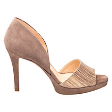 Buy Unisa Terris Two Part Stiletto Sandals, Metallic Online at johnlewis.com
