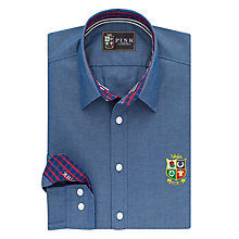 Buy The Lions Collection by Thomas Pink Fletcher Plain Classic Fit Shirt, Navy Online at johnlewis.com