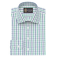 Buy The Lions Collection by Thomas Pink Robins Check XL Sleeve Slim Fit Shirt, Navy/Green Online at johnlewis.com
