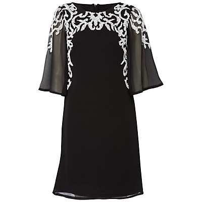 Raishma Wide Sleeve Beaded Dress, Black