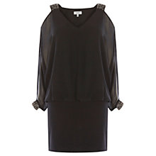 Buy Coast Shimmer Trim Dress, Black Online at johnlewis.com